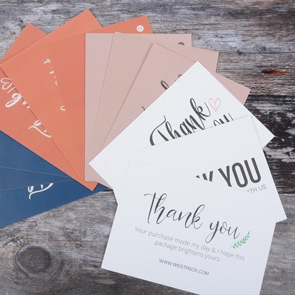 """Unboxing and free graphic template: """"Thank you"""" cards for your shipment"""