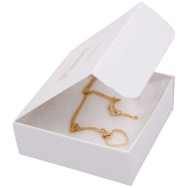 Plano 1000 Boite cadeau pour petit pendentif Carton blanc 80 x 80 x 30