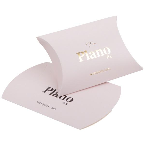 Plano Fix Berlingots pour boucles d'oreilles Carton rose clair mat 70 x 70 x 22