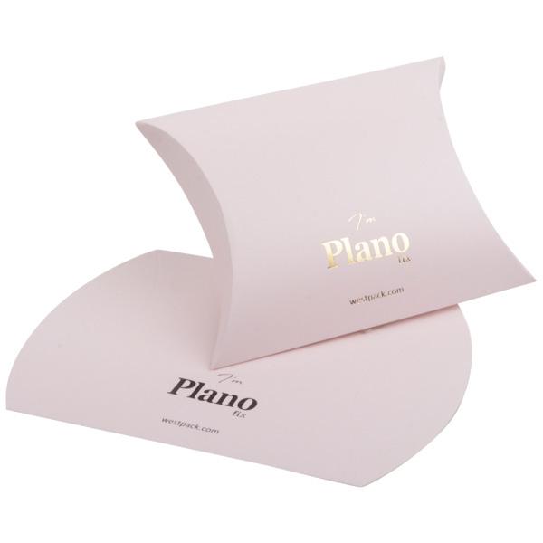Plano Fix gondeldoosje, groot Cadeaudoosje in mat lichtroze karton 100 x 110 x 39