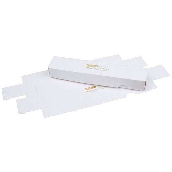 Plano A vouwbaar cadeaudoosje, 160 mm Wit karton, zijdeglans 160 x 28 x 20