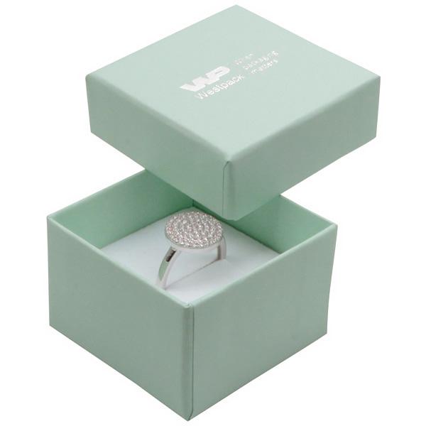 Boston sieradendoosje voor ring Mintgroen karton / Dubbelzijdig wit-zwart foam 50 x 50 x 32