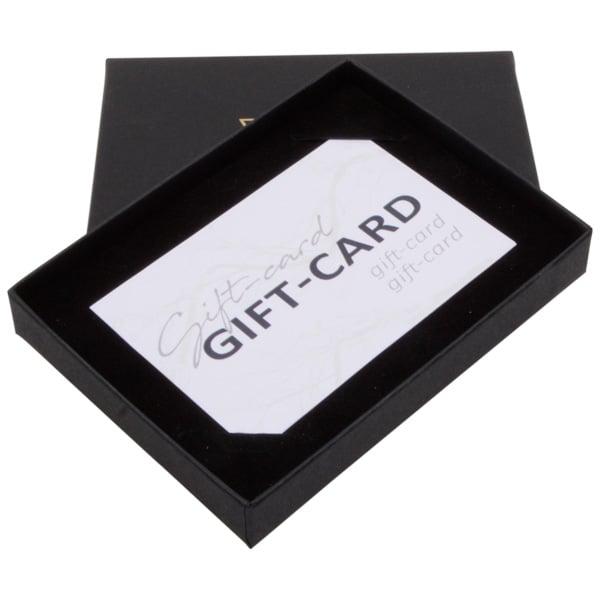 Boston sieradendoosje voor cadeaubon Zwart karton/ Zwart interieur in geflockt karton 108 x 80 x 17