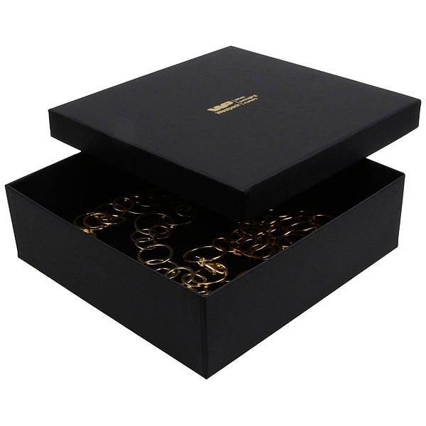 Boston XL écrin pour collier / parure Carton noir /Mousse noire 168 x 168 x 52