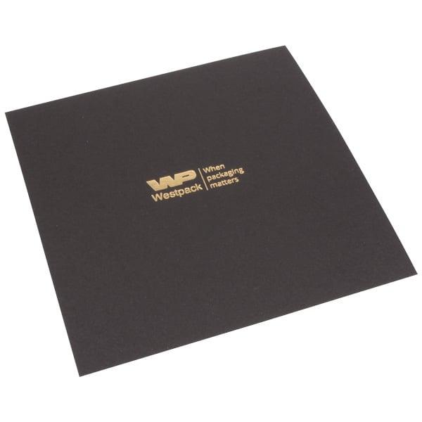 Cartouche pour écrin collier, petit Carton noir 128 x 128 0 018 025