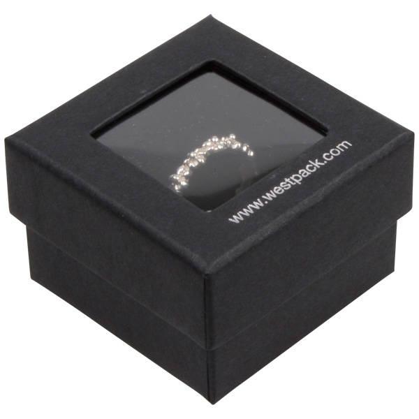 Boston Open écrin pour bague Carton noir / Mousse noire 50 x 50 x 32