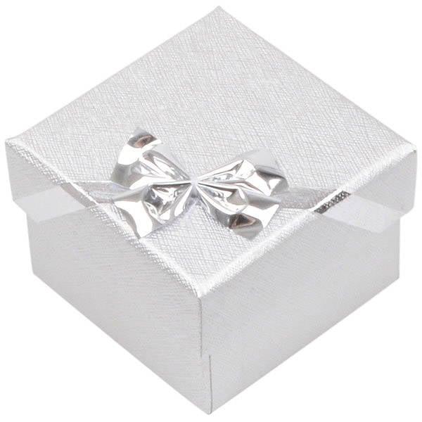 Las Vegas Doosje voor Ring / Oorsieraden Zilver Karton/ Wit Foam Interieur 50 x 50 x 34