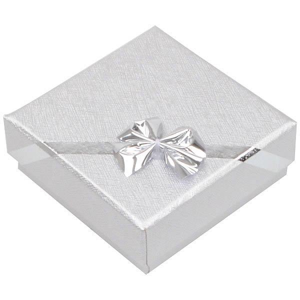 Las Vegas Doosje voor Kleine Hanger / Broche Zilver Karton/ Wit Foam Interieur 60 x 60 x 22