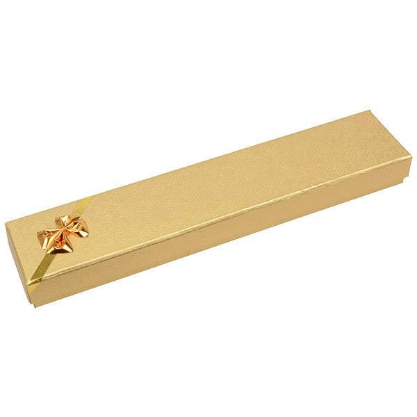 Las Vegas Doosje voor Armband, langwerpig Goud Karton/ Wit Foam Interieur 220 x 45 x 23