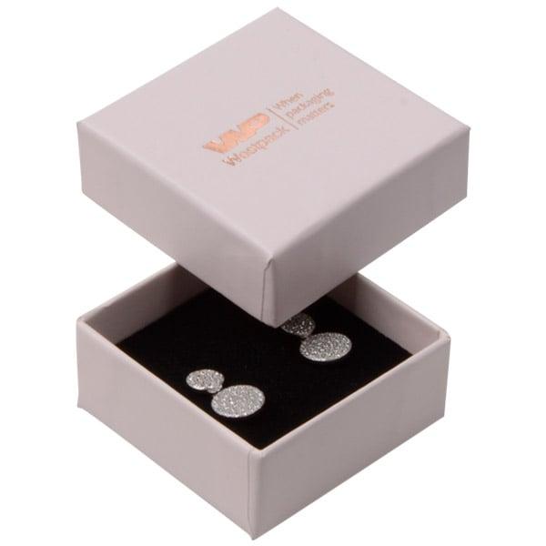 Santiago sieradendoosje voor oorbellen/ oorknopjes Poederroze karton / Zwarte foam insert 50 x 50 x 22