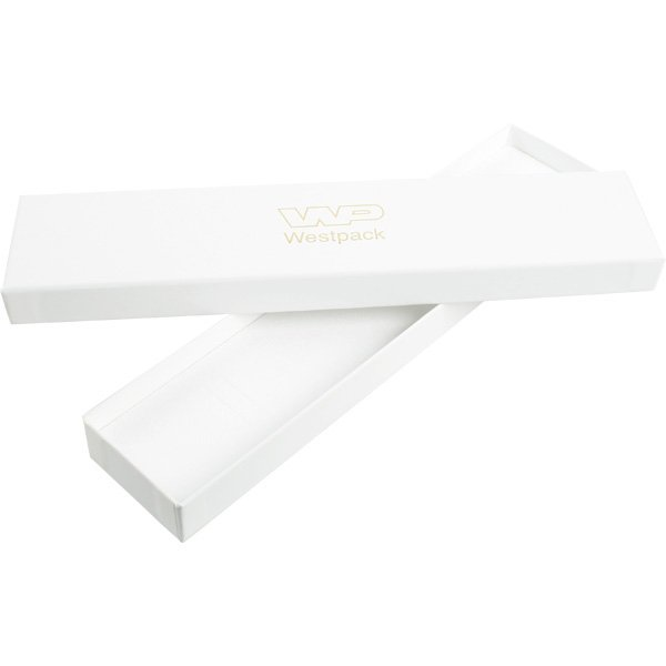 Santiago sieradendoosje voor armband Wit karton/ Wit foam 225 x 50 x 22