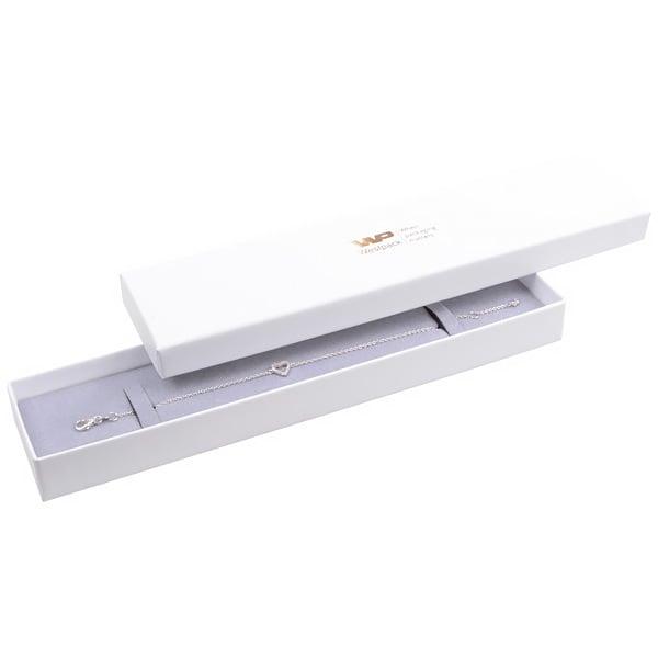 Santiago sieradendoosje voor armband Wit karton/ Grijs foam 225 x 50 x 22