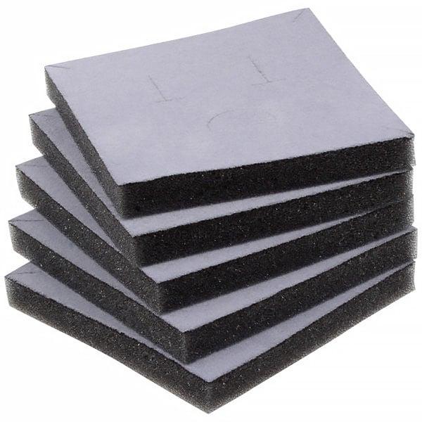 Foam insert voor doosje hanger/armring Grijs 81 x 81 x 10 0 027 006 / 0 018 006