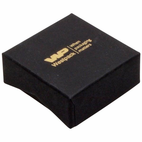 Amsterdam écrin plat pour bague Carton noir / Mousse noire 50 x 50 x 20