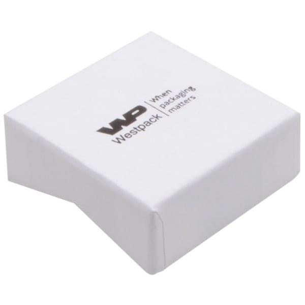 Amsterdam sieradendoosje voor ring / oorbellen Wit karton / Wit foam 50 x 50 x 20