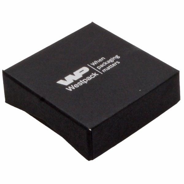 Amsterdam sieradendoosje voor oorbellen / hanger Zwart karton / Zwart foam 65 x 65 x 20