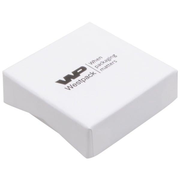 Amsterdam sieradendoosje voor oorbellen / hanger Wit karton / Wit foam 65 x 65 x 20