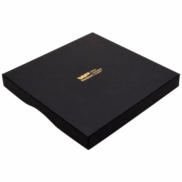 Amsterdam écrin plat pour collier/ parure Carton noir / Mousse noire 168 x 168 x 20