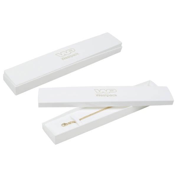 Copenhagen sieradendoosje voor armband Glanzend wit/ Mat wit kunststof/ Wit foam 228 x 43 x 20