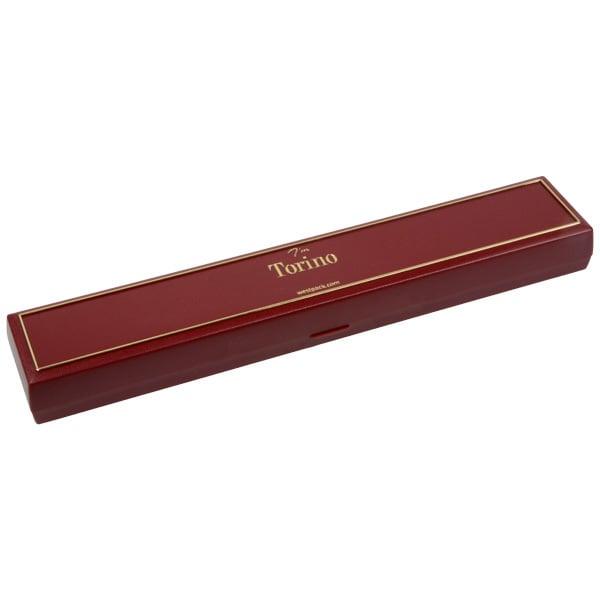 Torino écrin pour bracelet, long Plastique bordeaux, liseré doré / Mousse noire 215 x 35 x 21