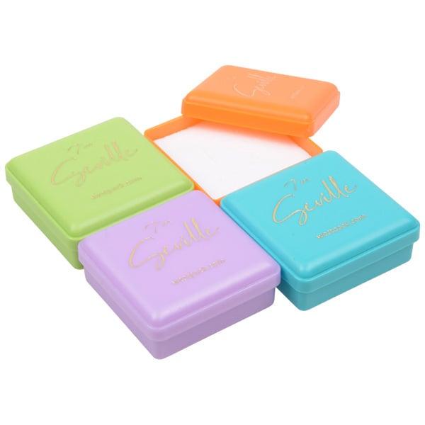 Mixdoos Seville sieradendoosje voor oorbellen Limegroen, lila, oranje en lichtblauw/ Wit foam 42 x 42 x 18