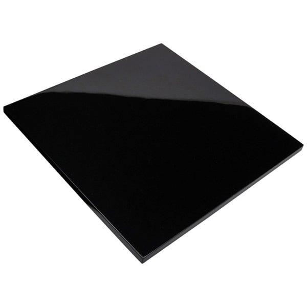 Deksel voor vierkant tableau Zwart hoogglans gelakt hout 241 x 241 x 9