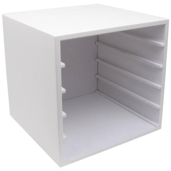 Meuble pour 5 plateaux de présentation Plateau blanc laqué 263 x 256 x 253