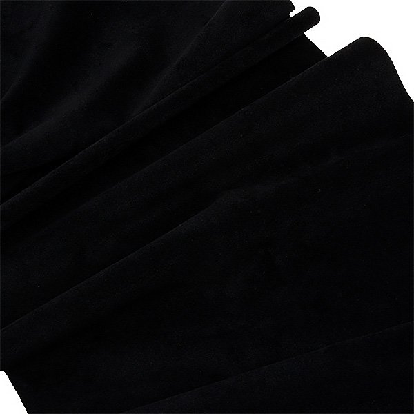 Tissu velours souple au mètre Noir 140 x 1
