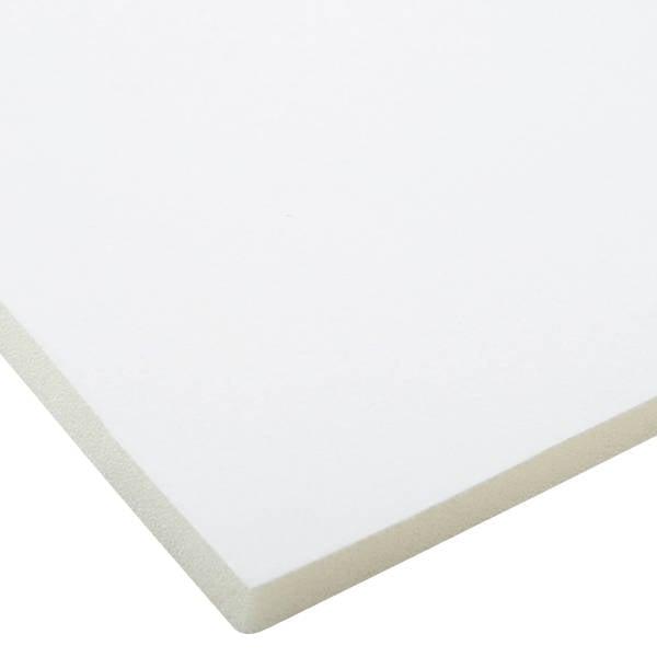 Mousse recouverte de velours, 7 mm d'épaisseur Velours blanc / mousse blanche 7 x 470