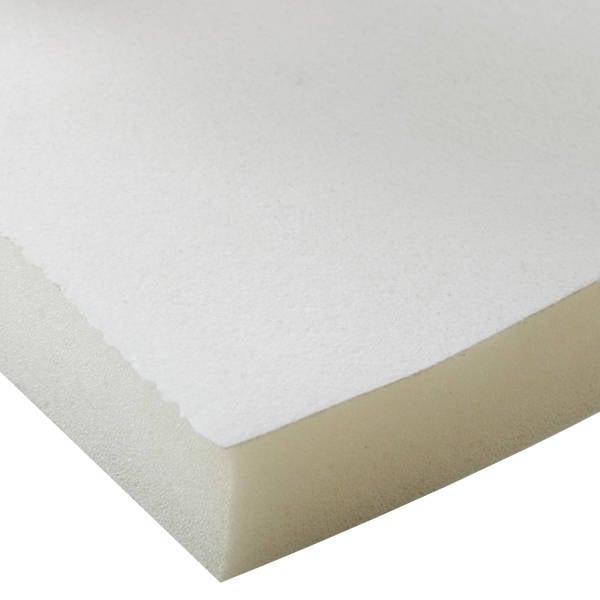 Foam bekleed met velours, 25 mm dik Wit Velours / Wit Foam 25 x 470