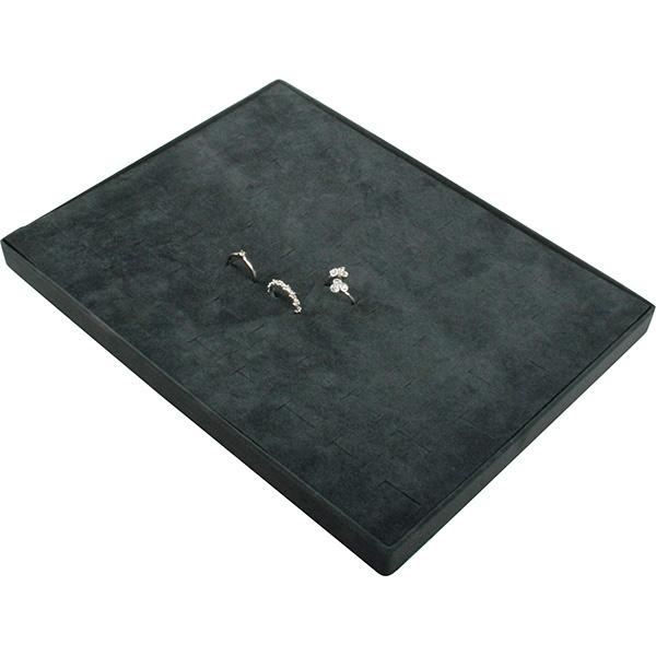 Insert voor Klein Tableau: 60x Ring, in rijen Donkergrijs Partitie/ Donkergrijs velours kussens 207 x 274