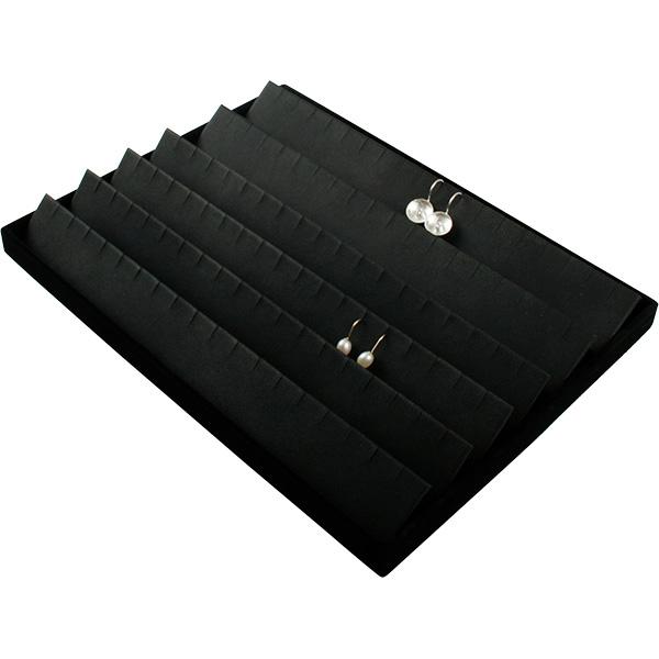 Insertion pour petit plateau : 54 paires de BO Cloison noire / Coussins en similicuir noir 207 x 274