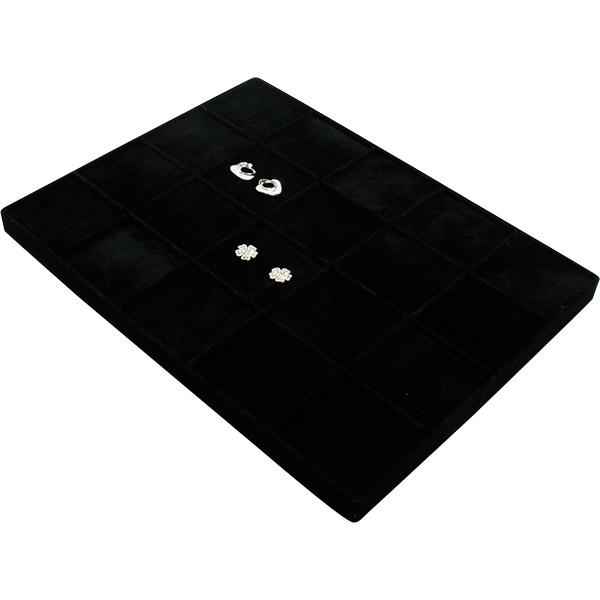 Insertion pour petit plateau: 20x paires de BO Cloison noire / Coussins en velours noir 207 x 274