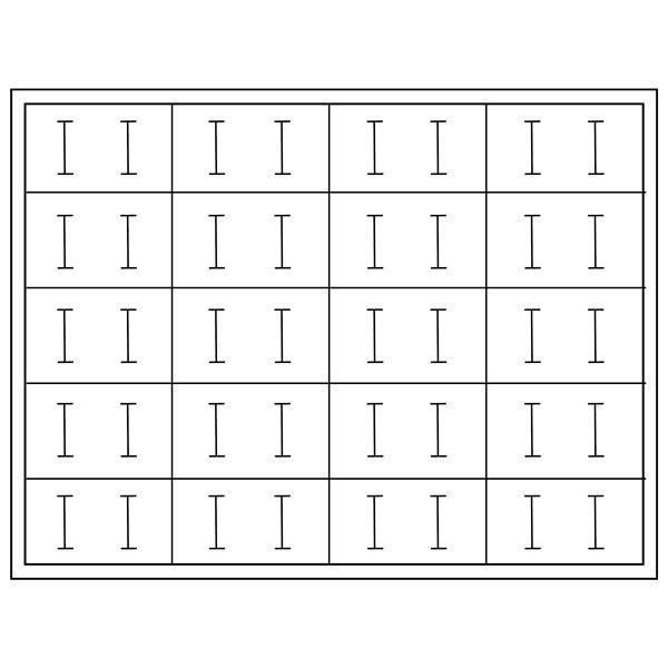 Insert voor klein tableau: 20 Trouwringen  284 x 216