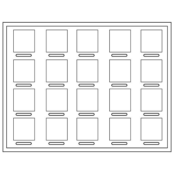 Tableau 20x Universeel H - / voor prijsblokjes 284 x 216 x
