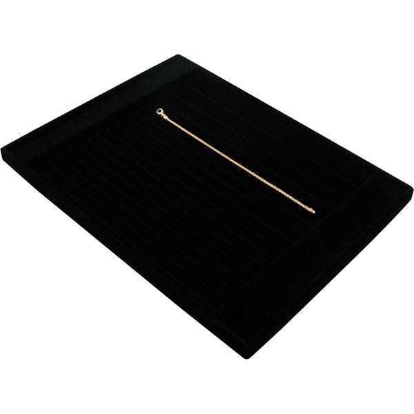Insert voor Klein Tableau: Armbanden, div. maten Zwarte Partitie/ Zwarte velours kussens 207 x 274