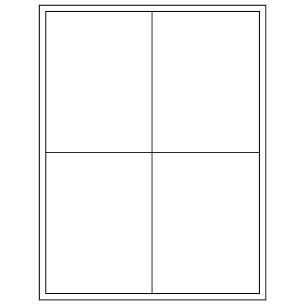 Tableau 4x Universeel  207 x 274 mm