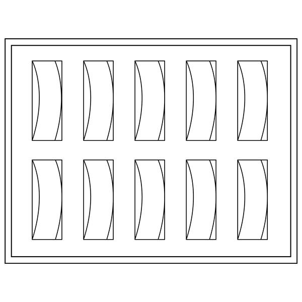 Insert voor klein Tableau 10x Dameshorloge, luxe  284 x 216 x