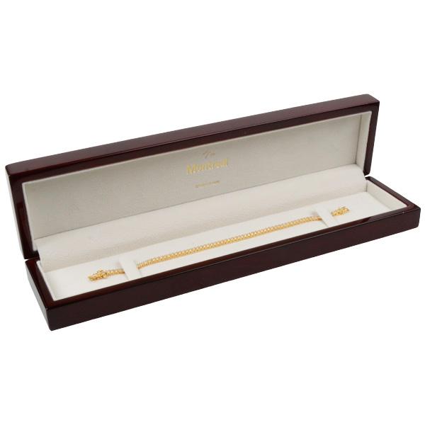 Montreal sieradendoosje voor armband Glanzend mahonie hout/ Creme velours interieur 57 x 250 x 32