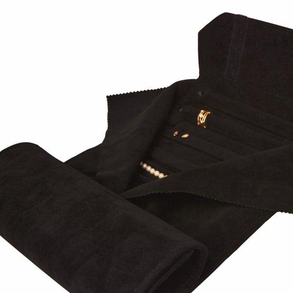 Presentatierol voor Sieradenset Zwart Velours met Klittenband 230 x 45