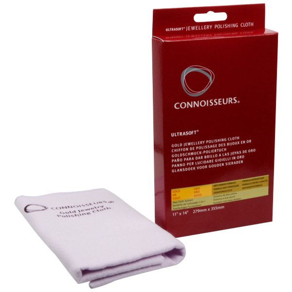 Connoisseurs Gold Jewellery Cloth Polishing cloth, double with/withour impregnation 350 x 275