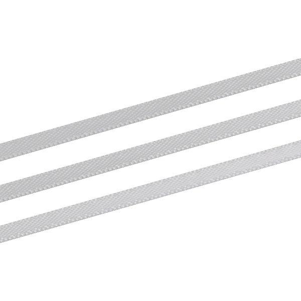 Glad satijnlint, extra smal Zilver  3 mm x 91,4 m