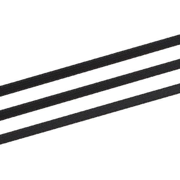 Ruban satin double face, très étroit Noir  3 mm x 91,4 m
