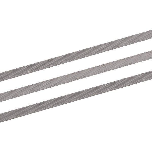 Glad satijnlint, extra smal Donker Grijs  3 mm x 91,4 m