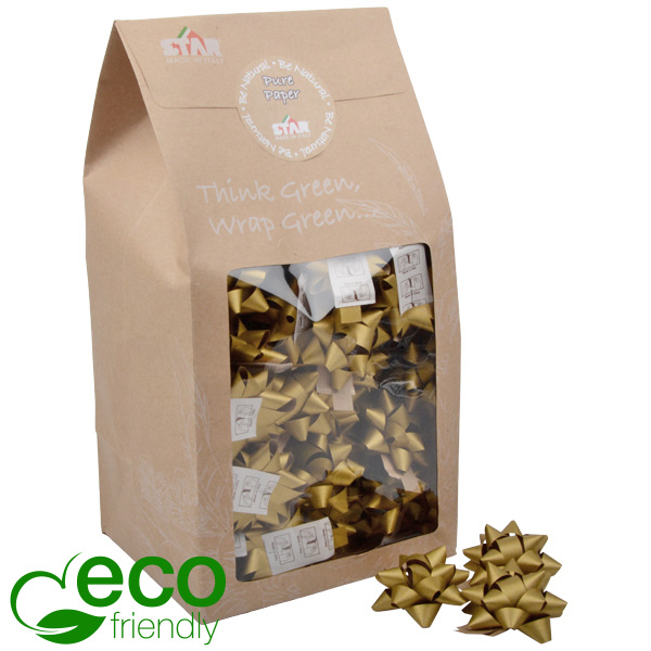 Grote sterren, 80 st. Goud - 100% gerecycled papier 60 x 60 60 x 60 mm