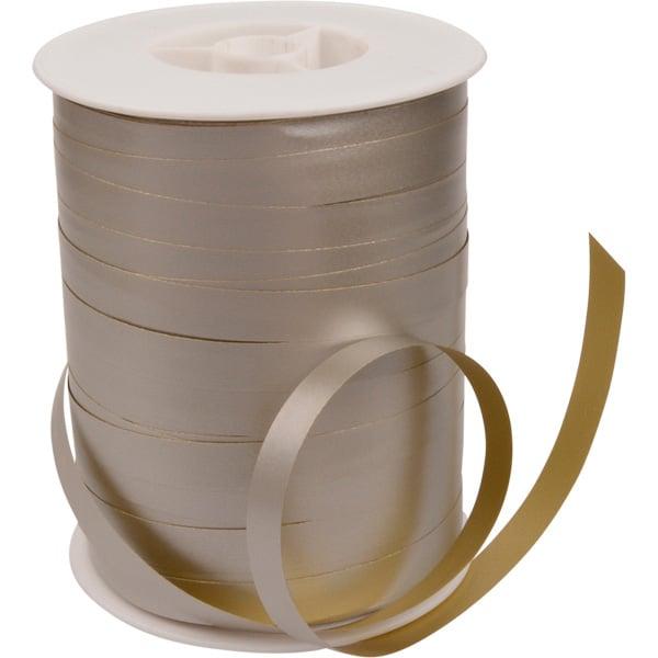 Bolduc ruban paporlène bicolore Papier de couleur or/ argent  10 mm x 250 m