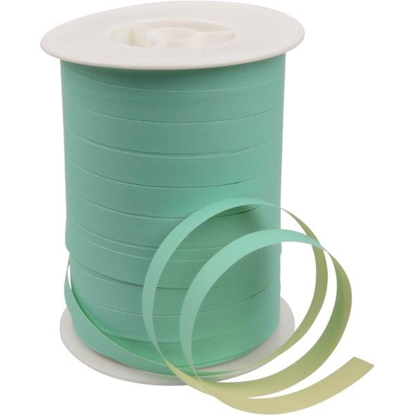 Bolduc ruban paporlène bicolore Papier de couleur vert menthe/ jaune clair  10 mm x 250 m