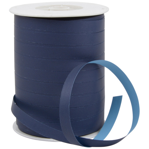 Dual Krullint Breed, dubbelzijdig Donkerblauw / Lichtblauw  10 mm x 250 m