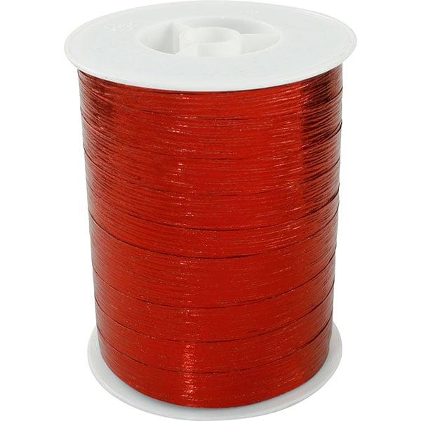 Bolduc ruban starmétal brillant, avec texture Rouge  10 mm x 250 m