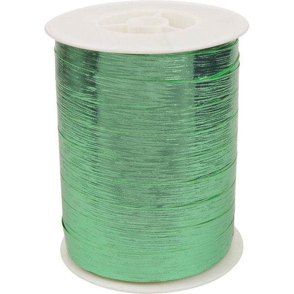 Shiny Deluxe krullint, breed Glanzend mintgroen, met textuur  10 mm x 250 m